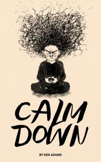 Stress phone addiction book cover Sampul Buku template