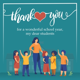 Student Appreciation by Teacher Instagram Pos Instagram-bericht template