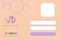 Student Card, Membership Card Design Template Label