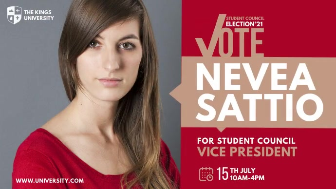 Student Council Election Ad Twitter-bericht template