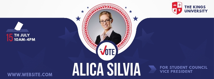 Student Council Election Campaign Foto Sampul Facebook template