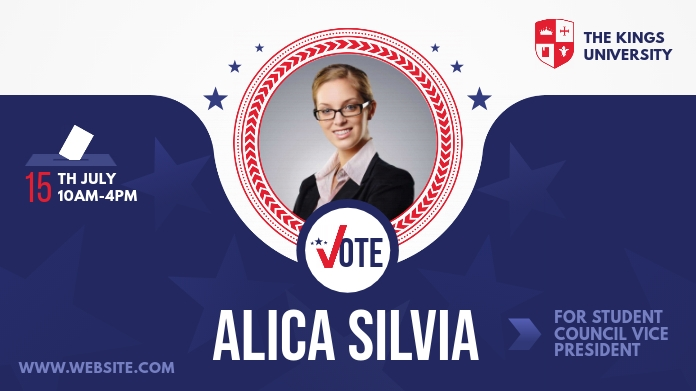 Student Council Election Campaign Pos Twitter template