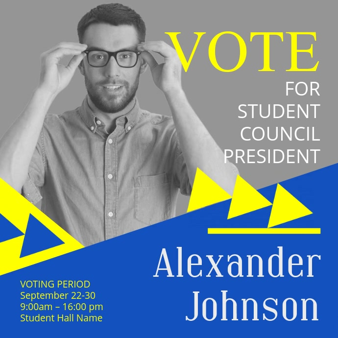 Student Council Election Instagram Template