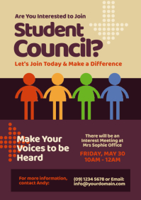 Student Council Flyer A4 template