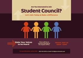 Student Council Postcard template