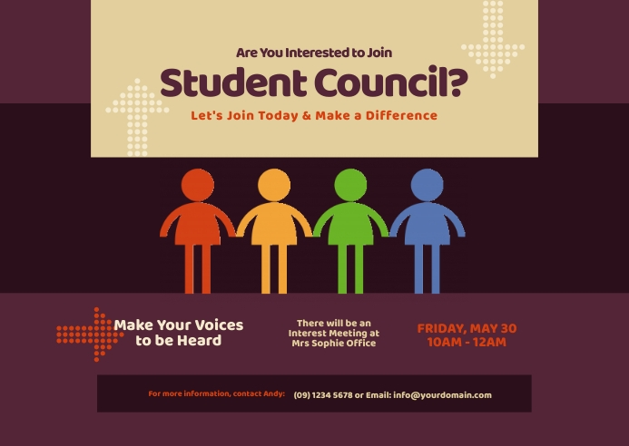 Student Council Postcard 明信片 template