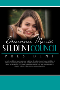 campaign school election poster templates president election flyer template student council