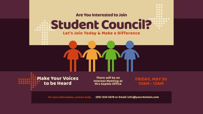 Student Council Twitter Post Twitter-bericht template