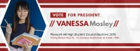 Student Council Vote for Me Facebook Banner template