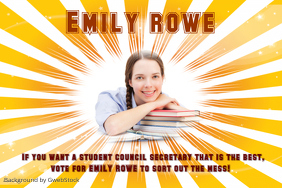 Student Election Poster Template