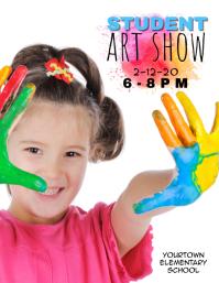 student elementary school art show flyer