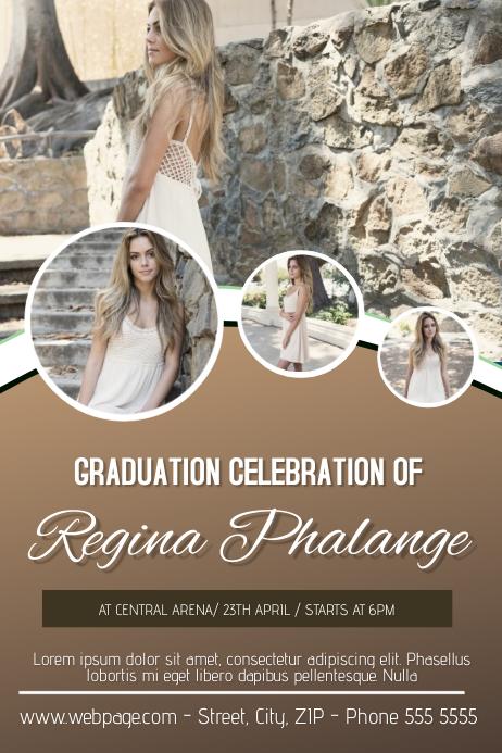 student graduation celebration party flyer template