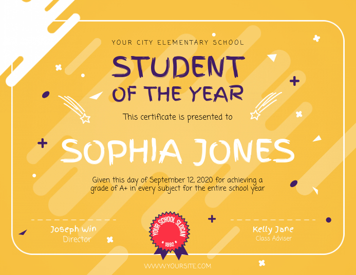 Student of the Year Landscape Certificate