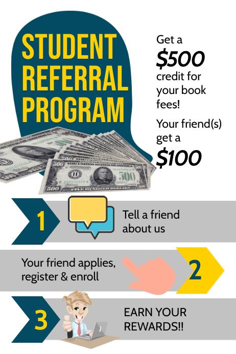 Student Referral Program Poster โปสเตอร์ template