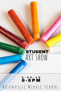 student school art show flyer
