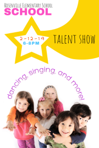 student talent show grade school flyer template