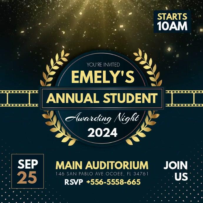 Student Theater Film Awards Persegi (1:1) template