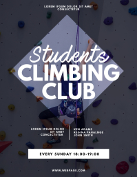 Students Climbing Club Flyer Design Template