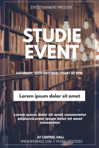 studie event flyer template