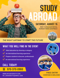 Study Abroad College Fair Flyer Template