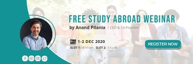Study Abroad / Online Free Webinar Ad Banner template