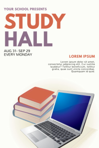 Study Hall Flyer Design Template