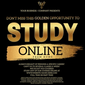 Study Online From Home Template