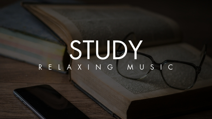 Study relax music youtube thumbnail template