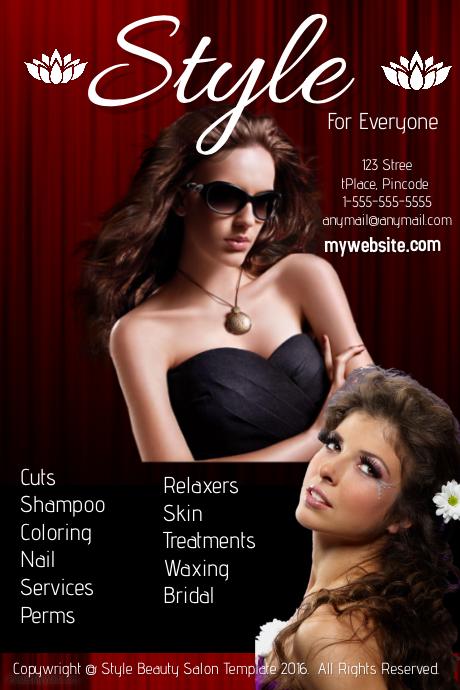 Style Hair Salon Template Postermywall