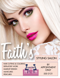 STYLING SALON Flyer (US Letter) template