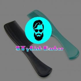 Stylish beard. Stylish barber. Heirstyle Logotipo template