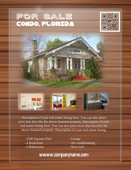 Stylish real estate flyer - Letter size (new version)