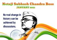 Subhas Chandra Bose Briefkaart template