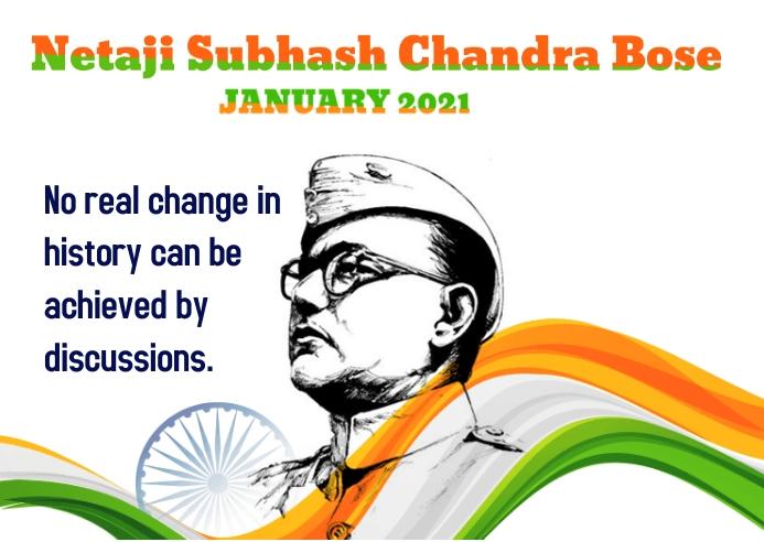 Subhas Chandra Bose Kartu Pos template