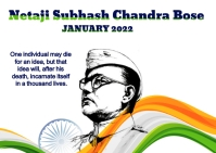 Subhas Chandra Bose Carte postale template