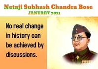 Subhas Chandra Bose Postcard template