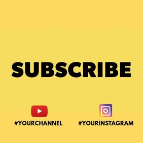 Subscribe invitation video animation 4 Pos Instagram template