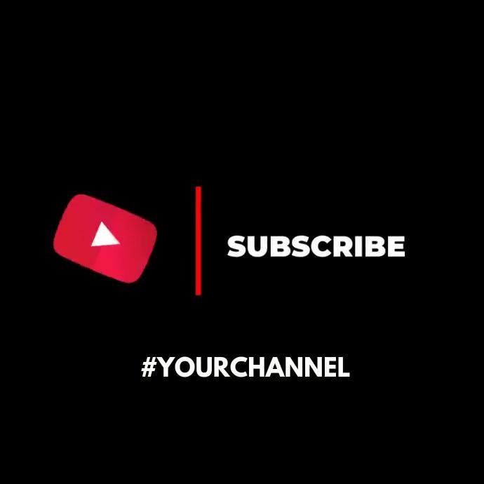 Subscribe invitation video animation youtube Publicação no Instagram template