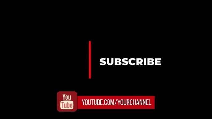 subscribe to youtube channel 数字显示屏 (16:9) template