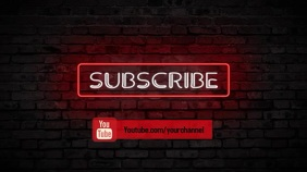 subscribe to youtube Digital na Display (16:9) template