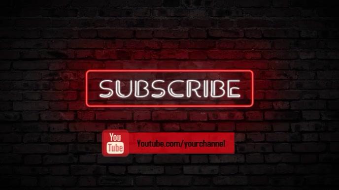 subscribe to youtube Pantalla Digital (16:9) template