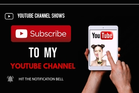 subscribe youtube Poster template