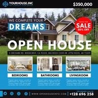 Suburban Real Estate Open House Instagram Vid Kvadrat (1:1) template