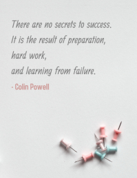 Success and Hardwork Quote Minimalist Poster