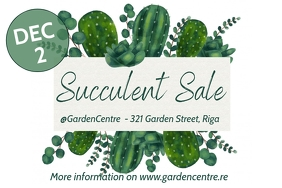 Succulent sale Poster template