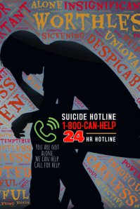 Suicide Prevention Crisis Help Flyer poster