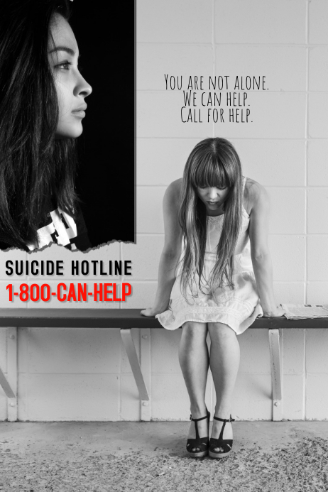 Suicide Prevention Helpline Flyer Poster Template