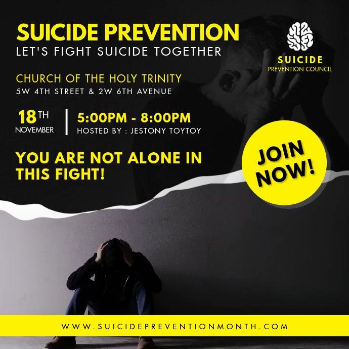 Suicide Prevention Seminar Social Media Post Persegi (1:1) template