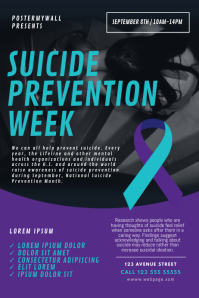 Suicide Prevention Week Event Flyer Template