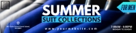 Suit Summer Boutique Website banner Design fo template